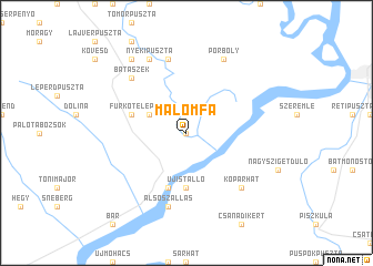 map of Malomfa
