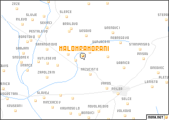map of Malo Mramorani
