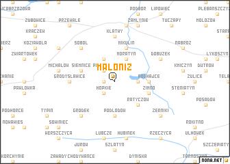 map of Małoniż
