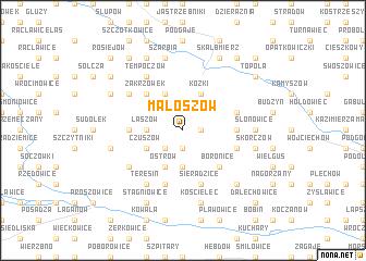map of Małoszów