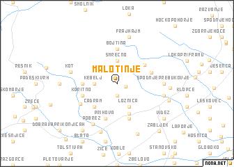 map of Malo Tinje