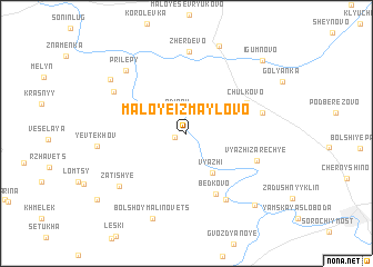map of Maloye Izmaylovo