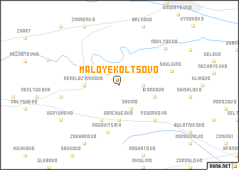 map of Maloye Kol\