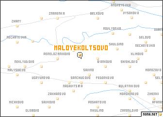 map of Maloye Kol\