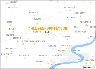 map of Maloye Savvateyevo