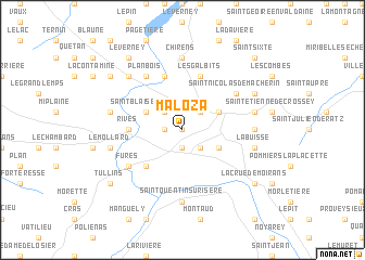 map of Maloza