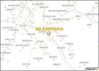 map of Mal Papradnik