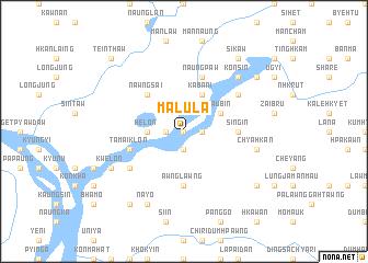 map of Malula