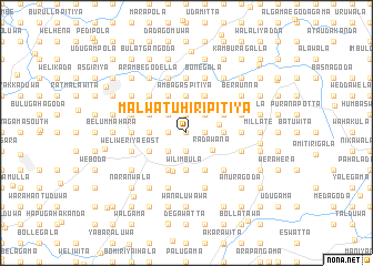 map of Malwatuhiripitiya