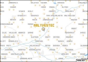 map of Malý Vestec