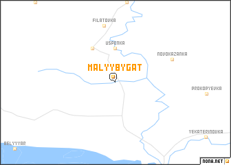 map of Malyy Bygat