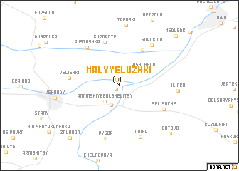 map of Malyye Luzhki
