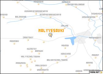map of Malyye Savki
