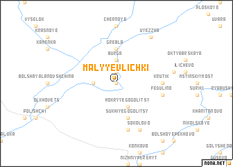 map of Malyye Vlichki
