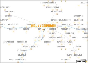 map of Malyy Gorodok