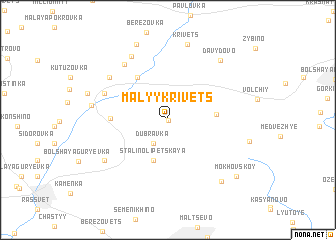 map of Malyy Krivets