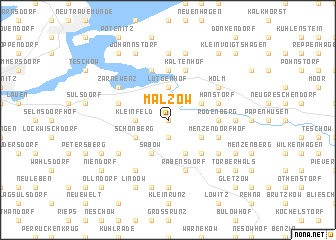 map of Malzow