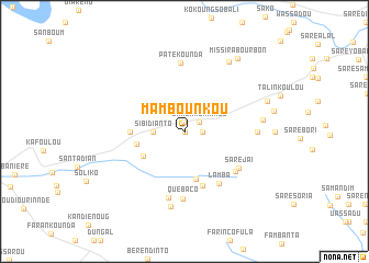 map of Mambounkou