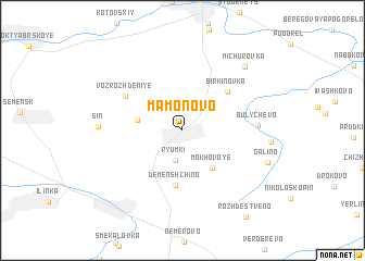 map of Mamonovo