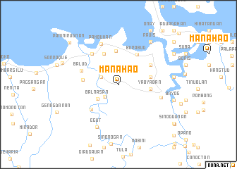 map of Manahao