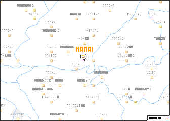 map of Mān-ai