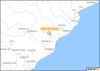 map of Manampak