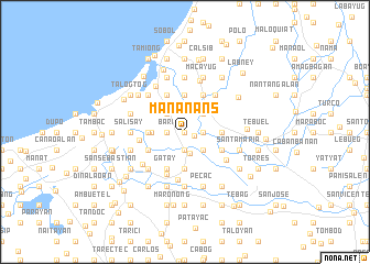 map of Mananans