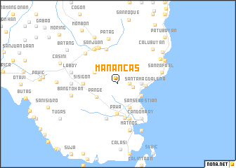 map of Manancas