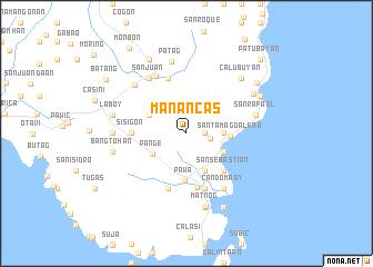 map of Manancas