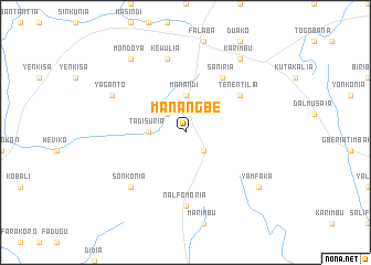 map of Manangbe