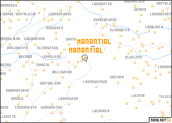 map of Manantial