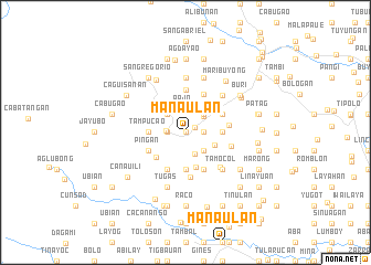 map of Manaulan