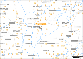 map of Manaul