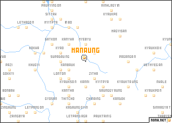 map of Manaung