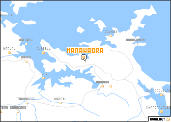 map of Manawaora