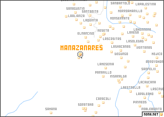 map of Manazanares