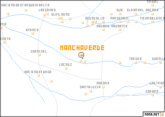 map of Mancha Verde