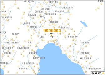 map of Mandaog