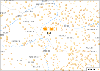 map of Mandići