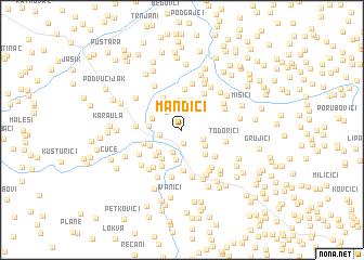 map of Mandići