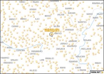 map of Manđiri