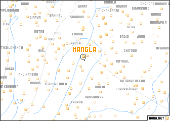 map of Mangla