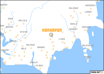 map of Manhapon
