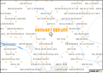 map of Manhartsbrunn