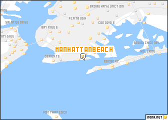 Manhattan Beach United States USA Map Nonanet - Manhattan us map