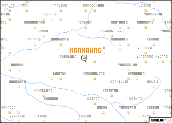 map of Mān Hawng
