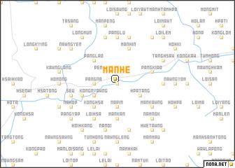map of Mān Hè