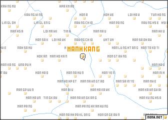 map of Mān Hkang