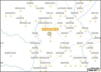map of Mánhkán