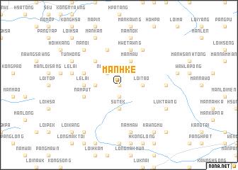 map of Mān Hke